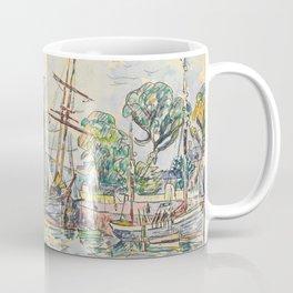 "Paul Signac ""Paimpol, Terre-Neuvas à quai"" Coffee Mug"
