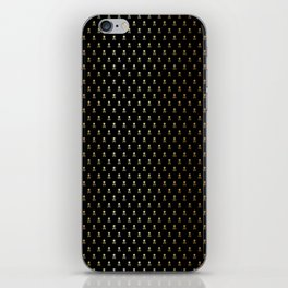 BLACK & GOLD SKULLS ALL OVER PRINT SMALL iPhone Skin