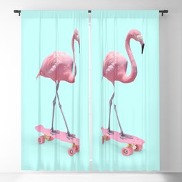 SKATE FLAMINGO Blackout Curtain