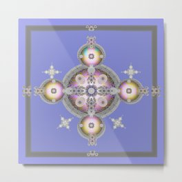 Pastel Soul Orb Meditation Color Therapy Art Print Metal Print