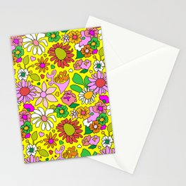 60's Lovers Floral in Sunshine Yellow Stationery Cards