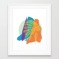 headdress Framed Art Prints featuring Headdress  by kpatron