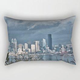 Seattle's shades of gray Rectangular Pillow