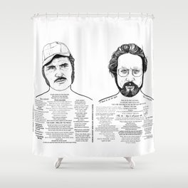 Jaws Dr Hooper Ink'd Series Shower Curtain