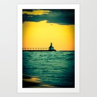 Radioactive Lighthouse Art Print