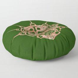 Copper Frog Grass Floor Pillow