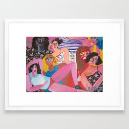 Gal pals Framed Art Print