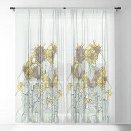 The sunflower brigade Sheer Curtain