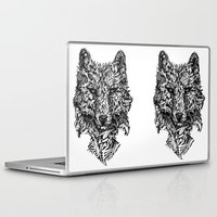 monster hunter Laptop & iPad Skins featuring Hunter by René Campbell
