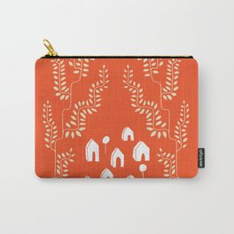 Line Vine Village in Red, Line Art Community Carry-All Pouch