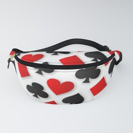 Playing Card Suits Collage Fanny Pack