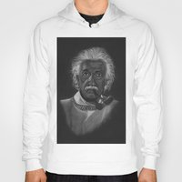 einstein Hoodies featuring Einstein by Paula Leão