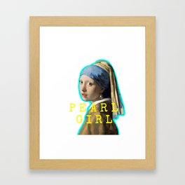 Pearl Girl! Framed Art Print