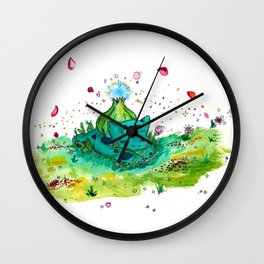 Sleeping Bubblesaur Wall Clock