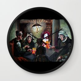 The McChips Eaters (Van Gogh) Wall Clock