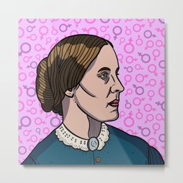 Susan B. Anthony Metal Print