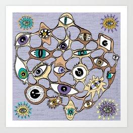geodesic eyes Art Print