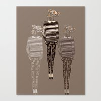 daisy Canvas Prints featuring Daisy by Bouffants and Broken Hearts