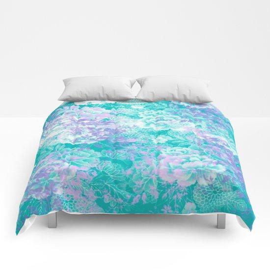 Elegant Vintage Floral Abstract Comforters