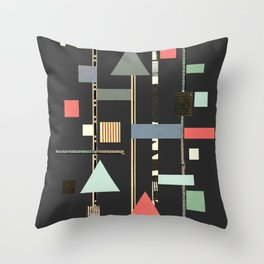 Abstract Aztec No. 1 Throw Pillow