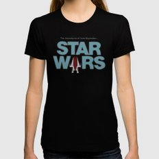 Star Wars 1977 Black Womens Fitted Tee X-LARGE