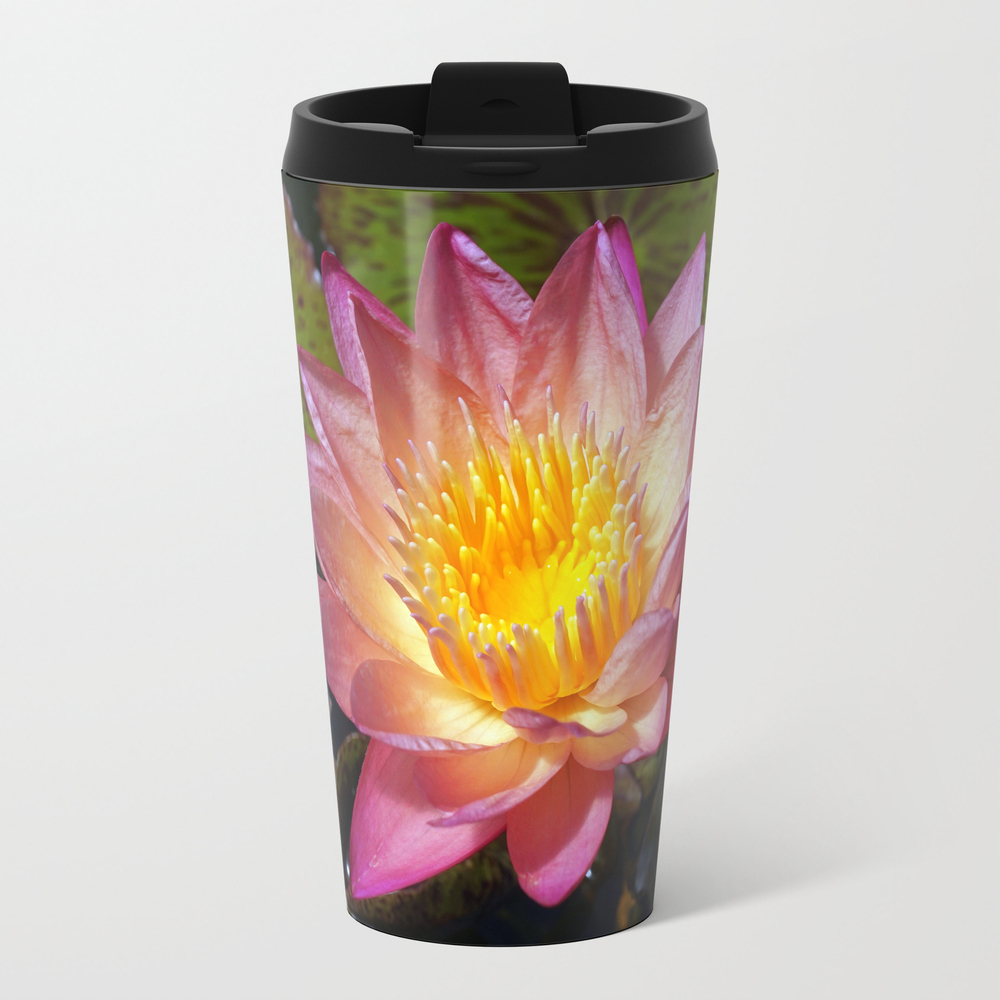 Lovely Pink Water Lily Travel Cup TRM8295005
