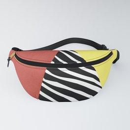 Zebra print geometry Fanny Pack