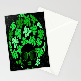 Afro Diva : Green & Black Stationery Cards