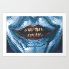 Joker's Grin Art Print