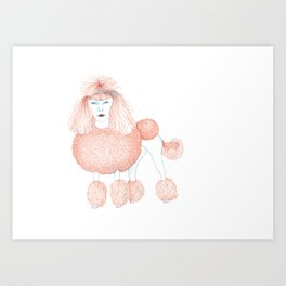 Weird poodles - Ginger dye Art Print