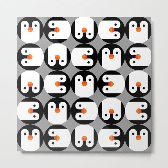 The Penguin Club Metal Print