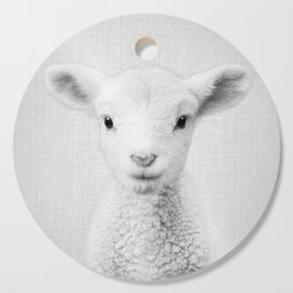 Lamb - Black & White Cutting Board