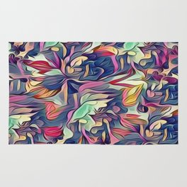 Midnight Floral Abstract Rug