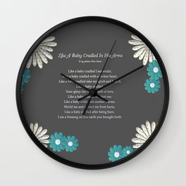 Like A Baby Cradled In His Arms Wall Clock