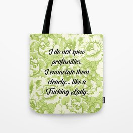 Fucking Lady - Green Tote Bag