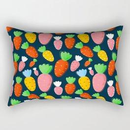 Carrots not only for bunnies - seamless pattern Rectangular Pillow