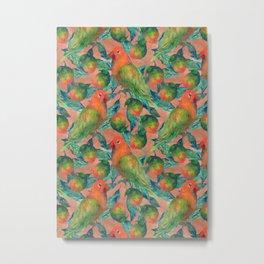 Mango Lovebird Metal Print