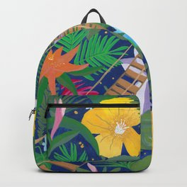 Bridge of Tropical Flowers Backpack
