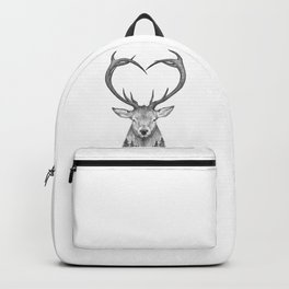 Deer with heart Backpack