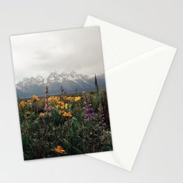 Wildflowers and Mountains - Summer in the Tetons Stationery Cards
