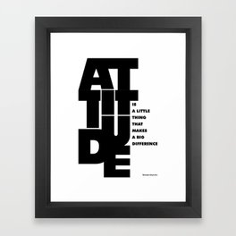 Lab No. 4 - Life Inspirational Quotes Of Attitude Inspirational Quotes Poster Framed Art Print