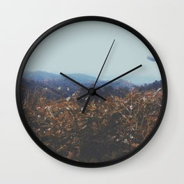 Crowded hills  Wall Clock