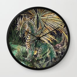 Dragon of the swamp Wall Clock