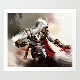 Crouching Ezio Art Print