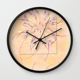 Overcasual Disposition Flowers  ID:16165-073529-69001 Wall Clock