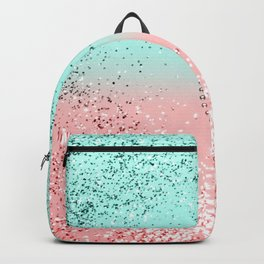 Summer Vibes Glitter Heart #1 #coral #mint #shiny #decor #art #society6 Backpack