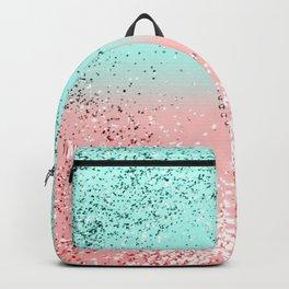 Summer Vibes Glitter Heart #1 #coral #mint #shiny #decor #art #society6 Backpack