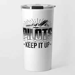 Pilot T-shirt for Aviation & Airplane Lovers Travel Mug