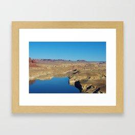 Colorado River from Hite overlook, Utah Framed Art Print