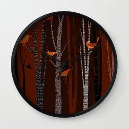 Winter Birds / 01 Wall Clock